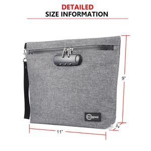 Image 3 - 조합 자물쇠를 가진 냄새 증거 부대 허브를위한 냄새 증거 Stash 케이스 콘테이너; 약 자물쇠 상자 부대 여행 저장 상자