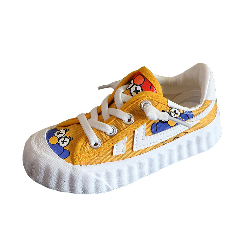 Kids Canvas Shoes New Low Sesame Street Printed Toddler Girls Shoes Cartoon Chaussures Enfants Sport Sneakers Boys Shoes