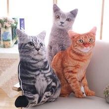 50 см милые Реалистичные 3d Плюшевые игрушки для кошек мягкие