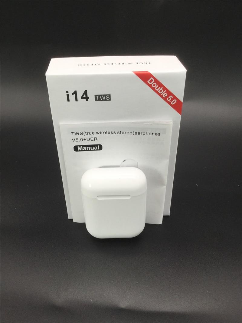 Original I14 TWS Wireless Earphones Bluetooth Headset Invisible Earbuds For Smart Phone Pk I11 I12 I7s I20 I60 I30