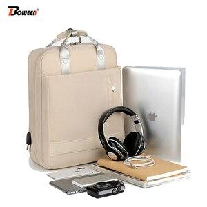 Waterproof 15.6 Inch Laptop Backpack Female Fashion Girl Backpack Women Bag Pink Multifunctional USB Bagpack Large Capacity 2019