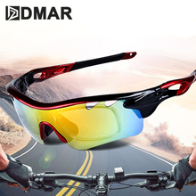 DMAR Polarized Cycling Sun Glasses Set Outdoor Sports Bicycle Men Women Bike Sunglasses 30g Goggles Eyewear 5 Lens