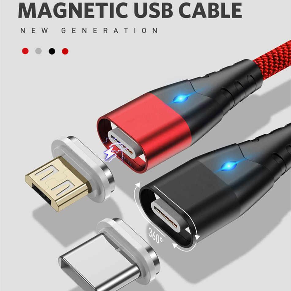 Mikro USB kablosu manyetik kablo hızlı şarj Android cep hızlı şarj mıknatıs kablosu toz fişi telefon veri kablosu için Huawei iphone