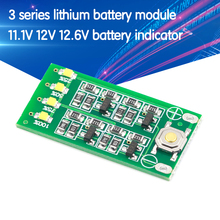 3 S 11.1V 12V 12.6V lityum pil kapasitesi göstergesi modülü Lipo Li-ion güç seviyesi ekran kurulu 3 serisi 9-26V