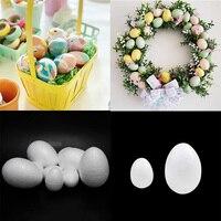 50Pcs Glücklich Ostern Dekoration Schaum Ei Form Gemalt Ei Rattan Kranz Handwerk Hängen Ostern Eier Modellierung für Ostern Party|Ball-Ornamente|   -