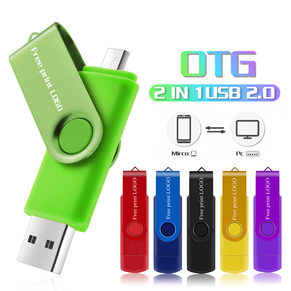 Usb Flash Drive 32GB Metal Pen Drive Smart Phone Usb Stick 16gb 64gb 128gb OTG External Storage Pendrive Micro Usb Flash Drive