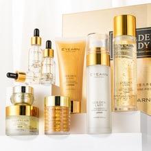 One hair wholesale Yiyang gold lady nine piece set beauty salon skin care products set box skin care set