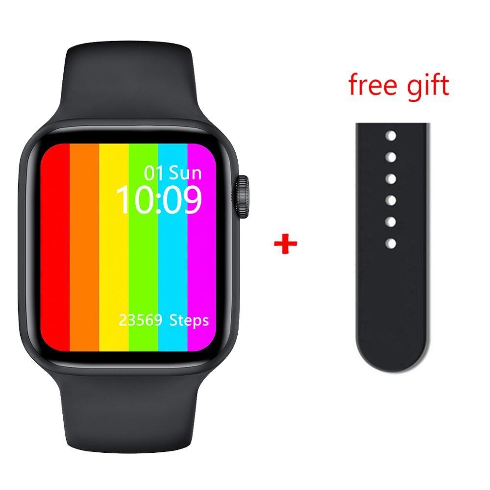 LEMFO IWO W46 Smart Watch Men 1 75Inch 320 385 Screen Body Temperature Heart Rate Monitoring Wireless charging Smart Watch
