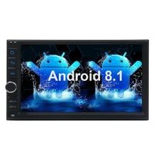 цена на Android 8.1 Car Stereo 2 Din Car Radio In Dash  Double Din Car Radio Bluetooth Car Radio GPS Navigation support WiFi/1080P Video