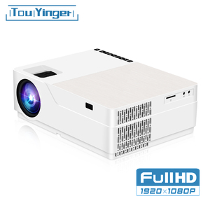 Touyinger m18 projetor 1080p resolução 5500 lúmen, android ac3 opção, led vídeo projetor cinema em casa completo hd filme beamer