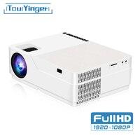 Touyinger m18 projetor 1080p resolução 5500 lúmen  android ac3 opção  led vídeo projetor cinema em casa completo hd filme beamer|Projetores LCD| |  -