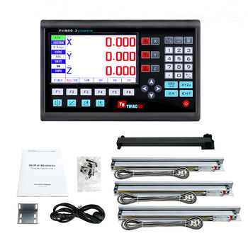 2020 New Complete BIG LCD DRO Kit Set Digital Readout Display with 3 PCS 5U Linear Scales/Encoder/Sensor Length 50mm to 1000mm