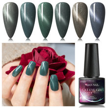 RBAN NAIL 3D Cat Eye Gel Nail Polish Magnet Effect UV led Gel Nail polish Gray Series Magnetic Gel Varnishes Manicure Lacquer(China)