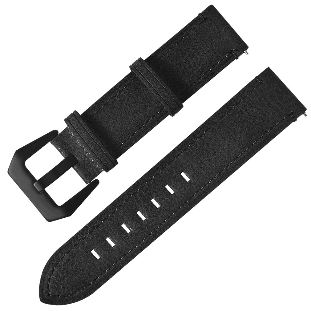 <font><b>20mm</b></font> Leather Stainless Steel Buckle Replacement Smart Watch Strap Watch <font><b>Band</b></font> Wrist Strap <font><b>For</b></font> Huami <font><b>For</b></font> <font><b>Amazfit</b></font> Youth Version image