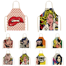 Apron Smock Kitchen Character Cloth Cleaning Cartoon Household Anti-Fouling Oil-Proof