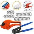 Pex braçadeira cinch ferramenta de friso crimper para braçadeiras de aço inoxidável de 3/8