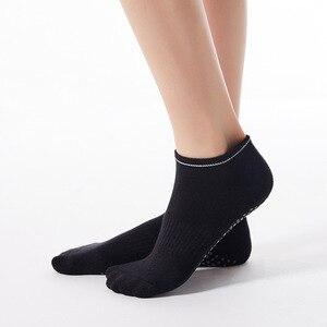 Женские короткие носки до лодыжки, с круглым носком, махровые носки, женские хлопковые, силиконовые, Нескользящие, для спортзала, спорта, фит...
