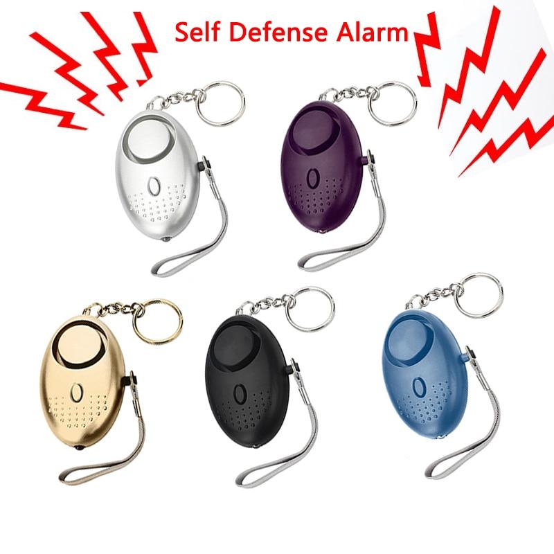 Auto defesa alarme 120db forma de ovo menina mulher segurança proteger alerta pessoal segurança grito alto chaveiro emergência defensealarm