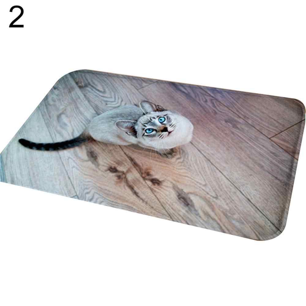 Tapete de entrada do vintage à prova dwaterproof água bonito gato filhote de cachorro impressão piso tapete quarto antiderrapante cozinha toalete capacho decoração de casa