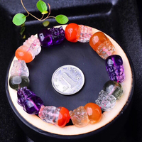 Fine Color Natural Crystal Bracelets Hand Carved Pixiu Beads Bracelet Help Wealthy for Women Men Crystal Jewelry JoursNeige