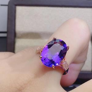 Image 2 - KJJEAXCMY fine jewelry 925 sterling silver inlaid Amethyst necklace pendant earring ring Womens suit popular