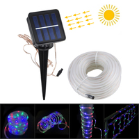 RGB 100 LED Multi function Solar Festival Decoration Light String For Outdoor Activities In The Garden Or Lawn