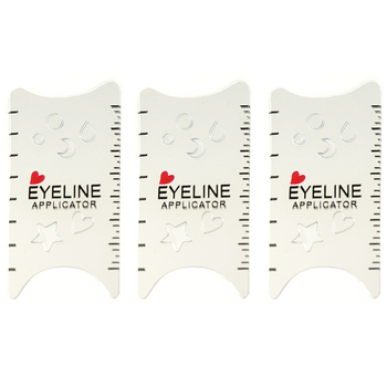 Salon Shaping Tools Make Up DIY Card Type Durable ABS White Professional Cat Eye Eyeliner Stencils