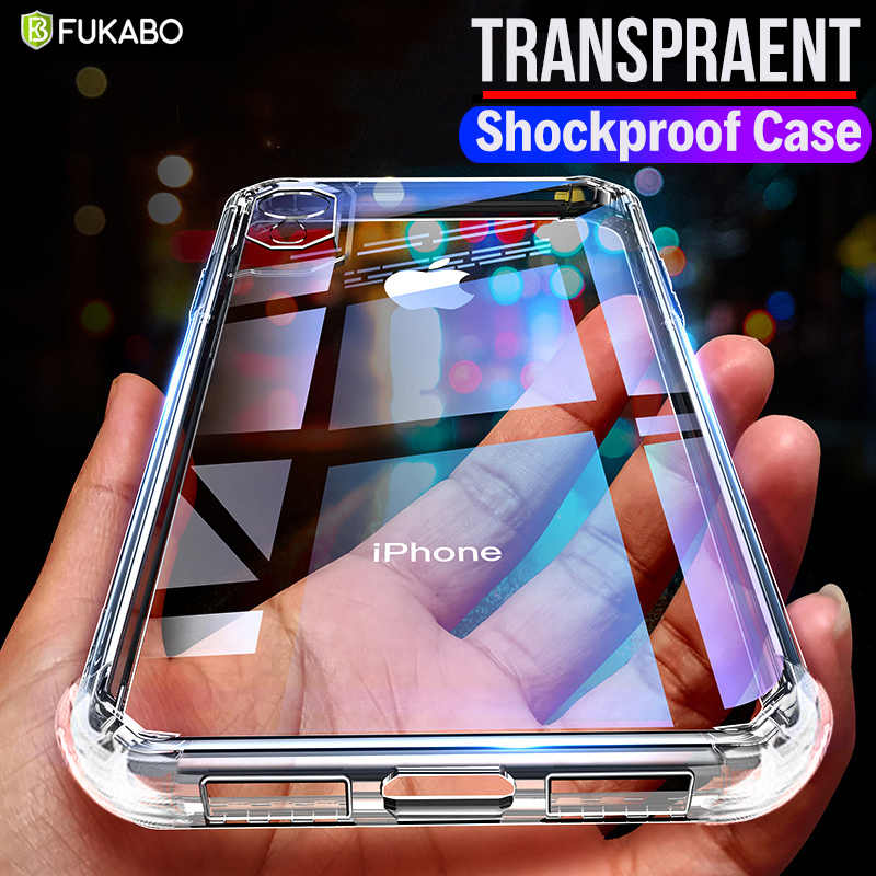 Custodia in Silicone trasparente antiurto di lusso per iPhone 11 Pro X Xr Xs Max custodia morbida in Silicone iPhone 6 6s 7 8 Plus 5 5s SE 2020 Cover posteriore