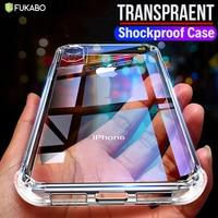 Funda transparente de lujo a prueba de golpes para iPhone 11 Pro X Xr Xs Max 12 mini Pro funda de silicona suave iPhone 6 6s 7 8 Plus 5 5S SE 2020 case cover funda movil carcasa estuche fundas