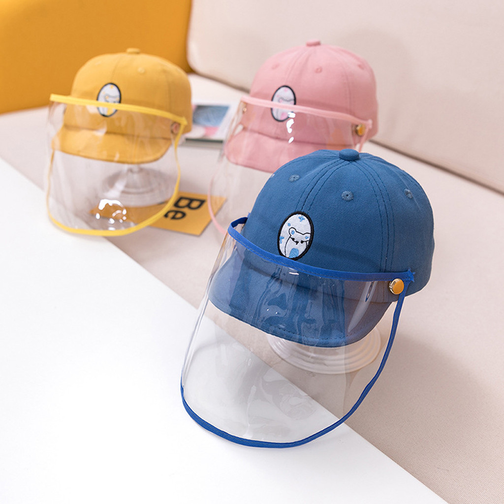 Anti-spitting Peaked Cap Hat Protective Hat Dustproof Cover Kids Boys Girls Multi-function Cap Anti-saliva Face Cover #T1P
