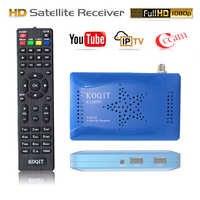 KOQIT Tuner TV numérique DVB S2 récepteur Satellite récepteur DVB-S2 H.264 décodeur protocole Vu Biss Wifi Youtube décodeur