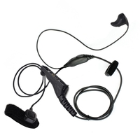 Two Way Ear Bone Vibrate Ptt Headset for Motorola Xir P8268 P8260 P8200 Apx4000 Apx2000 Apx6000 Xpr6300 Mtp6550