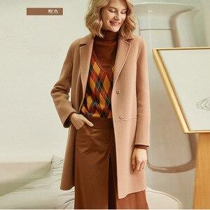 Image 3 - Herbst Winter Frauen Wolle Mäntel 2019 Neue Koreanische version Hohe Qualität Jacken Schlank Cardigan Woolen Frauen Jacke Mantel Rot