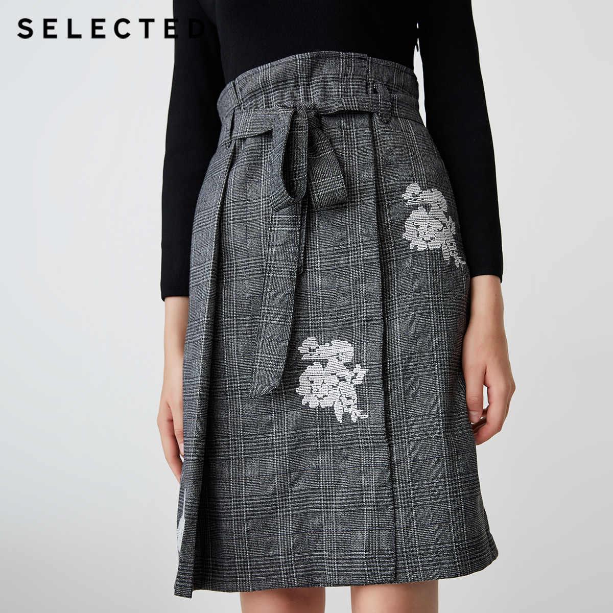 Отборное зимнее клетчатое плиссированное платье средней длины S | 418446508
