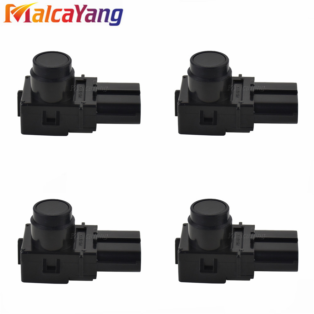 4PCS New 89341-50060 188300-3481 Parking PDC Ultrasonic For Lexus LS460 LS600 2006-2008 Black Color