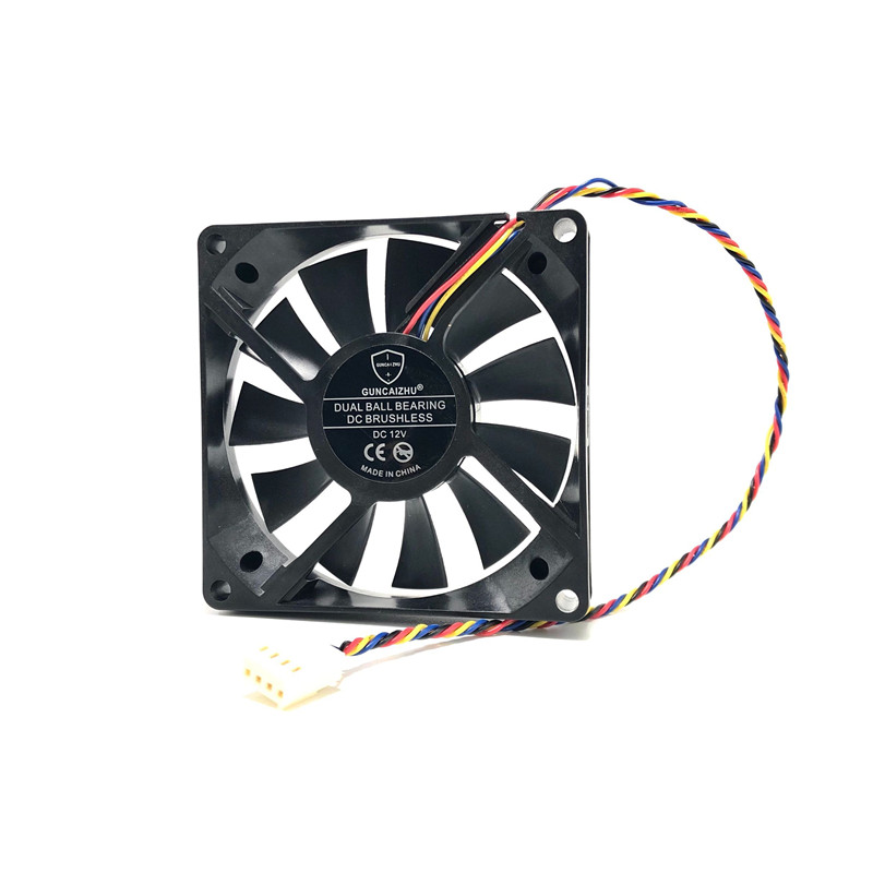 8015 PC Cooling <font><b>Fan</b></font> 80mm 4pin PWM 12V 0.52A 4580RPM TWOBALL bearing 8CM Computer CPU cooler <font><b>Fan</b></font> <font><b>80x80x15</b></font> image