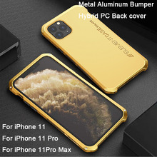 Metal Aluminum Bumber Case For iphone 11 case Hybrid PC Back cover For iphone 11 pro max case Cover Shockproof Coque Fundas protective aluminum alloy cover pc back case for iphone 4 4s purple
