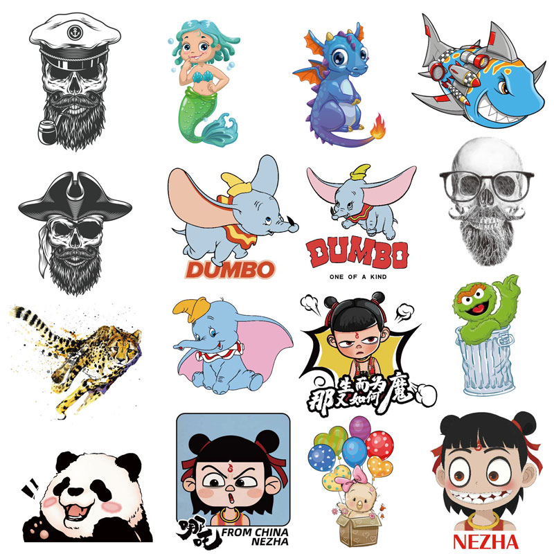 Iron on Patch for T-Shirt Children Gift DIY Clothes Stickers Heat Transfer Cute Cartoon Animal Patches Heat Transfer Applique F