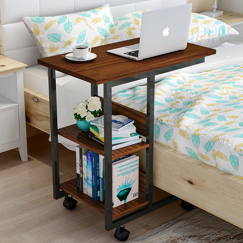 Wood Removable Bedside Table Laptop Stand Computer Desk Computer Table With Wheels Escritorio Mesa Ordenador Biurko Tafel W0502
