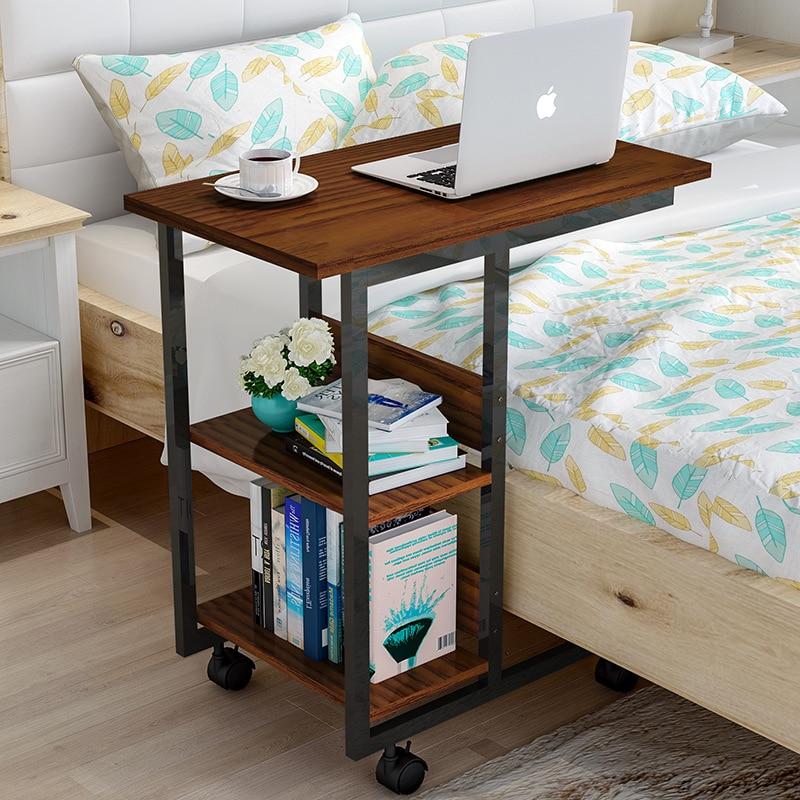 Wood Removable Bedside Table Laptop Stand Computer Desk Computer Table With Wheels Escritorio Mesa Ordenador Biurko Tafel W0502