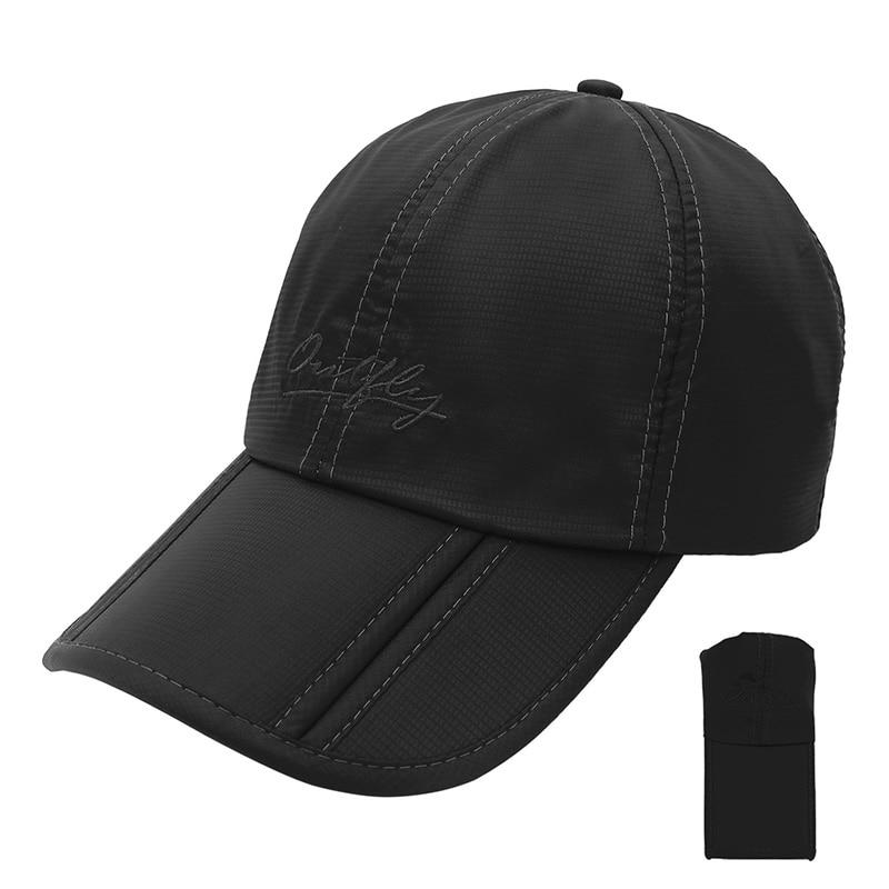 Outfly Folding Sun Hat Cap Visera Cap Outdoor Foldable Quick Dry Visor Cap Brand Fishing Hat Men Sports Duck Cap
