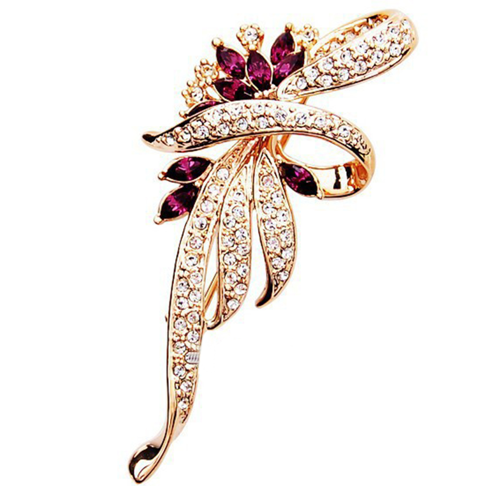 New Shining Crystal Brooches Lovely For Female Retro Fashion Women Jewelry Gift
