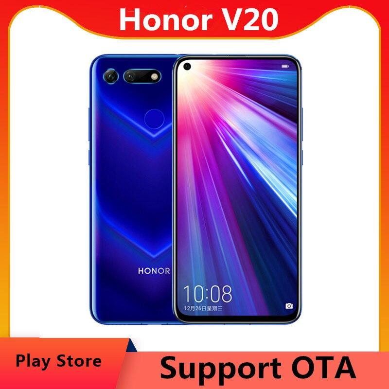 Глобальная версия Honor V20 Honor вид 20 PCT-L29 сотового телефона 6,4