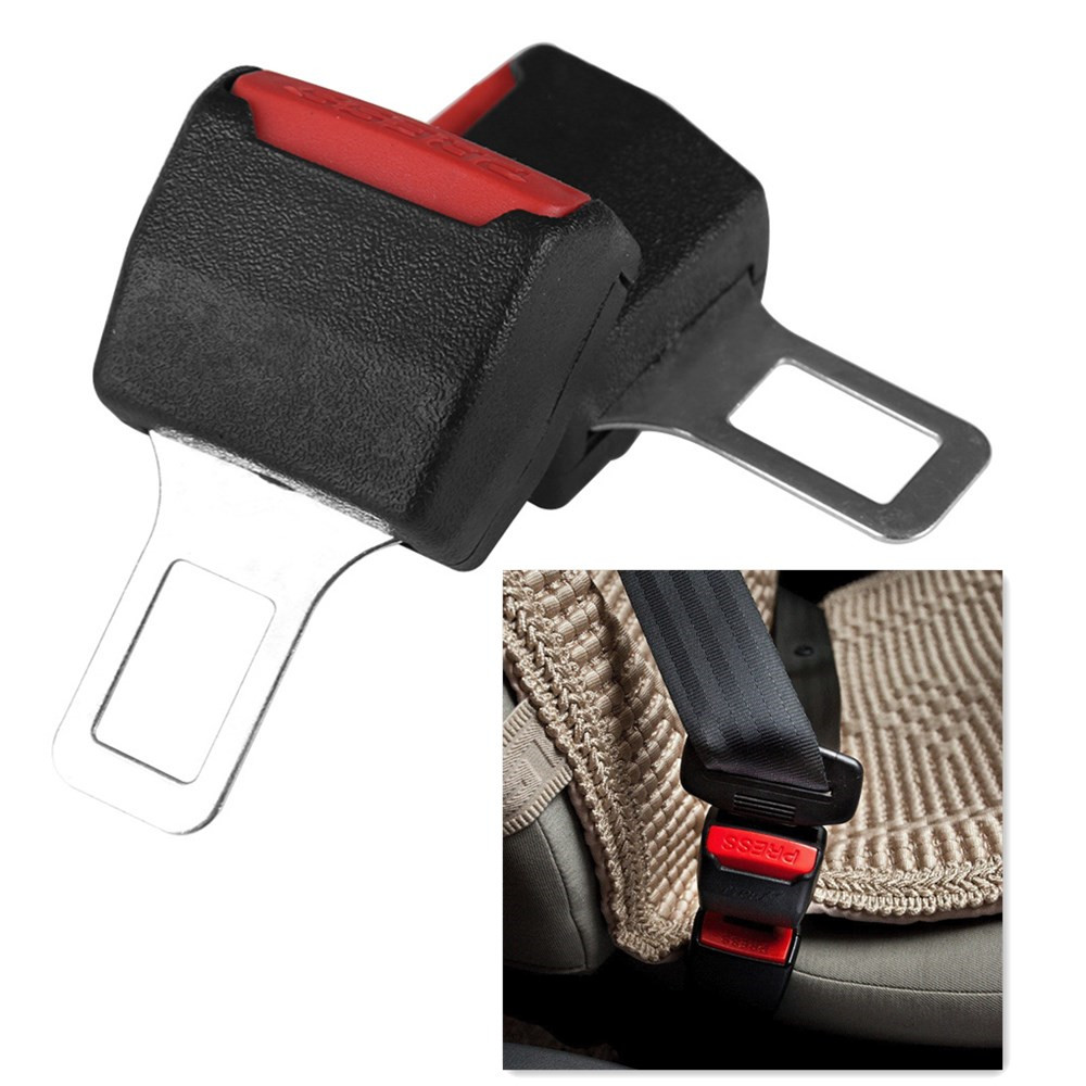 1 SET Car Seat Belt Safety Clip Insert Socket Lock Safety Adjuster Buckle Black
