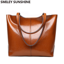 Bag Hand-Bags Cow-Genuine-Leather Designer Luxury Women Ladies Famous-Brand Totes Female