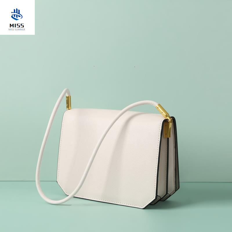 2019 new P-F bag fashion simple small square bag ladies handbag high quality leather chain mobile phone shoulder bag