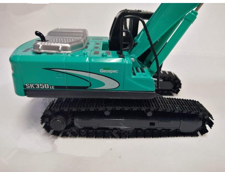 KOBELCO 1:50  Scale Green Excavator  Diecast Engineering Car Model SK-350 Gift