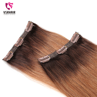 VSR Machine Remy Extension Hair Human Extensions Hair Clip Ins Easy Do Style 3pcs 50cm 55cm Clip In Hair Extensions