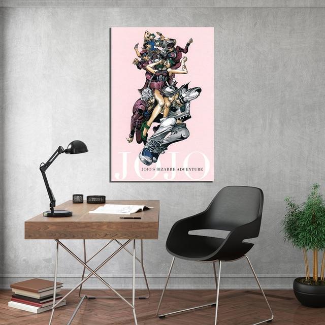 JoJo S Bizarre Adventure Wall Art Japan Anime Canvas Print Modular Poster HD Modern Picture Home Decoration Living Room Painting 2