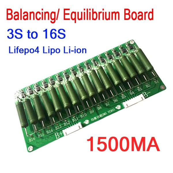 3S To 16S High Current Lithium Battery Balance Board 60V 48V 1.5A Balancing Equalizer Lifepo4 Li-ion 12V 24V 4S 7S 8S 10S 13S